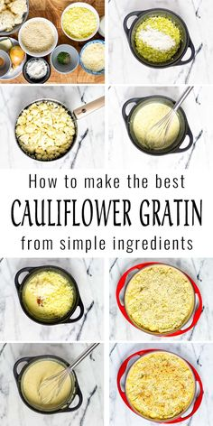 This Cauliflower Gratin will be a family favorite in no time. Made with an amazing creamy white sauce, fantastic flavor, texture, vegan and so easy. Even pickiest eaters will eat cauliflower from now on, so good. #vegan #dairyfree #vegetarian #dinner #lunch #contentednesscooking #mealprep #cauliflowergratin Healthy Comfort Food, Comfort Foods, Healthy Meals, Healthy Recipes, Dairy Free Diet, Dairy Free Recipes, Gluten Free, Vegan Casserole, Cauliflower Gratin