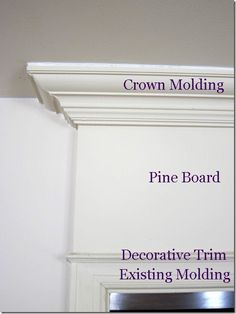 molding idea for above basement door - add shelf to top