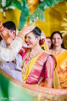 Telugu wedding - jeelakarra bellam