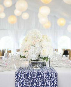 Gorgeous white centerpiece