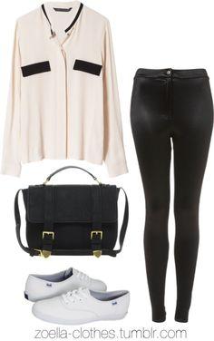 Untitled #371 by zoella-clothes featuring satchel handbagsZara blouse / Topshop disco pants / Keds / ASOS satchel handbag