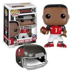 Funko is moving the chain with their NFL Wave 2 Pop! vinyl figures! This NFL Jameis Winston Wave 2 Pop! Vinyl Figure features the quarterback of the Tampa Bay Buccaneers. This figure includes a removable helmet, stands 3 3/4-inches tall in Pop! Vinyl Format, and comes packaged in a window display box. Ages 13 and older.