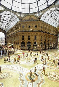 The Galleria Vittorio Emanuele II is the oldest shopping mall in Italy, housed within a four-storey double arcade in central Milan.[1] The Galleria is named after Vittorio Emanuele II, the first king of the Kingdom of Italy. It was originally designed in 1861 and built by Giuseppe Mengoni between 1865 and 1877.