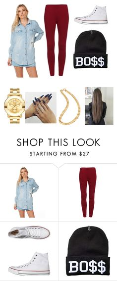 """""""#023"""" by queen1091 ❤ liked on Polyvore featuring MINKPINK, Converse, Movado and Floss Gloss"""