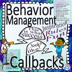 Behavior management is easy with callbacks! To re-focus behavior, stir up positive energy, guide transitions, review rules, or take a brain break. Tips for classroom use and fun behavior management.