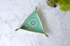 leather triangle tray   jill brodeur