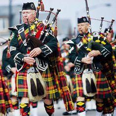 I think they are wearing the Buchanan Clan Tartan. My clan! :) A bit loud, though. Well ok, a lot loud! LoL
