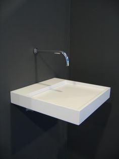 Marike - EXTEND 400 Bathroom basin. For more of our products, take a look at www.marike.com/... #bathbasins #bathroom #basins #himacs #corian
