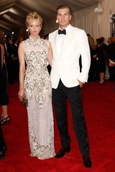 Amber Valletta in Alberta Ferretti and Teddy Charles