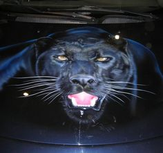 3D airbrushed car