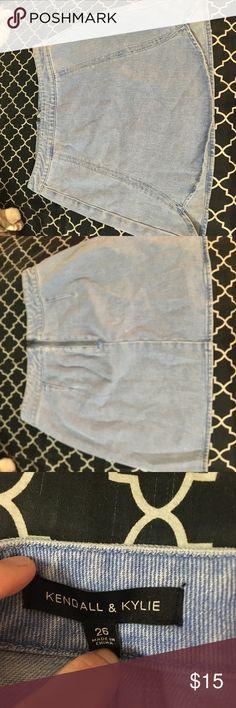 Lite wash denim skirt Tulio bottom, lite wash denim, hugs hips PacSun Skirts