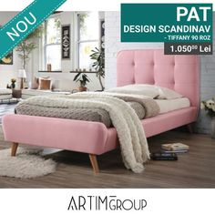 Want to make your bedroom feel more cozy? Change its centerpiece: this type of bed and its color are great for creating a warm atmosphere and helping you relax. Upholstered Furniture, Table Furniture, Kids Furniture, Living Room Furniture, Furniture Design, Tv Beds, Types Of Beds, Mattress Covers, High Quality Furniture