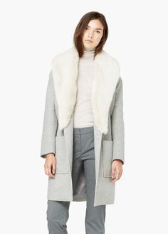 Yün palto -  Kadın | MANGO