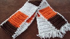 Cleveland Fan Chunky Scarf by tracyleeilg1318 on Etsy