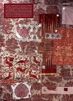'World Of Interiors' magazine. 'Battle Great Wood' hand silk screened linen.