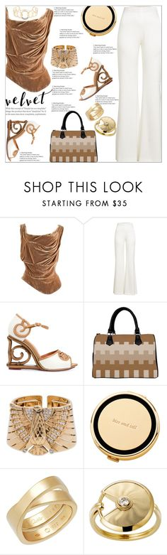 """""""Velvet Chic"""" by atelier-briella ❤ liked on Polyvore featuring Vivienne Westwood, Galvan, Cartier, Kate Spade and Lana"""