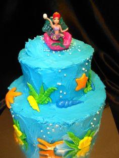 2 Tier Little Mermaid Cake