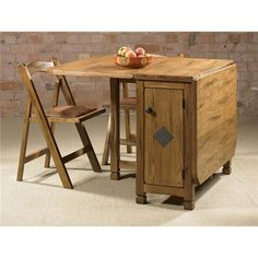 This is what I need for my small dining space! Folding Furniture, Ikea Folding Table, Folding Kitchen Table, Foldable Dining Table, Folding Dining Chairs, Table Ikea, Dining Table Design, Wooden Dining Tables, Dining Table Chairs