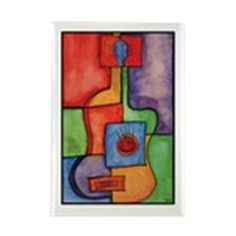 Colorful Guitar Rectangle Magnet on CafePress.com