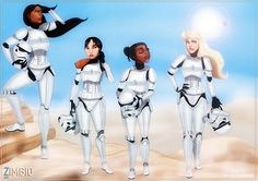 Check Out This Great Star Wars/Disney Princess Crossover Fan Art - moviepilot.com