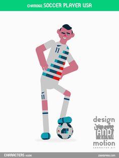 CHAR060_SoccerPlayerUSA. Part of D&M Character Kit.