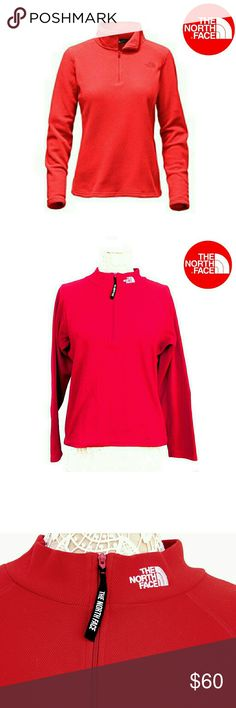 THE NORTH FACE RED HALF ZIP PULLOVER THE NORTH FACE RED HALF ZIP PULLOVER Pre-Loved/EUC/Pic for Similarity  SZ LG RN# 61661  CA# 30516 100% Polyester   Colors May Not be Exact due to Lighting or Ur Screen The North Face Jackets & Coats
