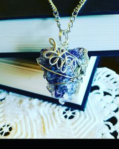Wire Wrapped Amethyst Geode Pendant
