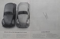 1965 Volkswagen VW Beetle Ad ~ 4 Little Parts
