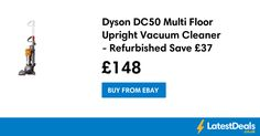 Dyson DC50 Multi Floor Upright Vacuum Cleaner - Refurbished Save £37, £148 at ebay