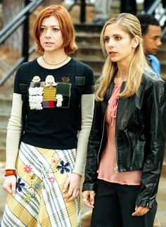 """Willow and Buffy - """"This Year's Girl"""" - check out Willow's sweater!"""