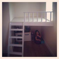 Little girls bedroom - hidey hole - built by daddy