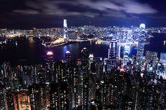 Hong Kong Night | Flickr - Photo Sharing! Hong Kong Night, City Life, Beautiful World, New York Skyline, Leo, Explore, Travel, Image, Nice Asses