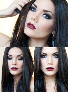 dark dramatic makeup...