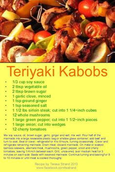 Seasoned Salt, Sirloin Steaks, Diabetic Friendly, Kabobs, Stuffed Green Peppers, Diabetic Recipes, Diabetes, Food To Make, Stuffed Mushrooms