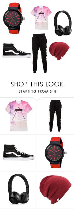 """no caption"" by sarahd03 ❤ liked on Polyvore featuring Univibe, Blood Brother, Vans, Lacoste, Beats by Dr. Dre and Coal"