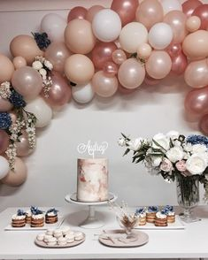"""961 Likes, 17 Comments - Stephanie Cavallo (@slcavallo) on Instagram: """"Audrey's First Birthday Check out this gorgeous balloon and floral arch by the ridiculous…"""""""