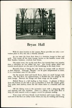 Bryan Hall, You the Coed, 1957-1958 :: Ohio University Archives