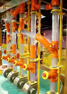 Interactive Walls, Interactive Installation, Pneumatic Tube, Kids Indoor Playhouse, Rube Goldberg Machine, Sensory Rooms, Kids Play Area, Kids Zone, Waterworks