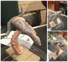 a Work in progress sculpture using Super Sculpey and Super Sculpey Firm #supersculpey #supersculpeyfirm #octopus #themindisright