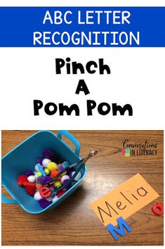 Pinch A Pom Pom for Letter Recognition and Letter Identification Activities That Work! #letterrecognition #letteridentification #ABCs #guidedreading #kindergarten #phonics #backtoschool #anchorcharts #wordwork #readinginterventions #literacycenters kindergarten, first grade