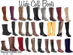 "OMG, this was MADE FOR ME!!!! Wide Calf Boots... Thanks to my father, I'm forced to buy ""larger than average"" sized boots =)"