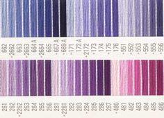 コスモ刺しゅう糸 25番 紫色系 ルシアン刺繍糸