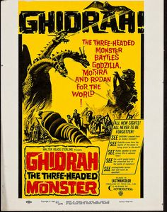 "Movie poster ""Ghidrah, the Three-Headed Monster"""