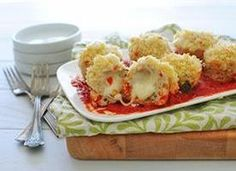 Weight watcher inspiration. Leave out panko, and parm and use lowfat cheese and tomato sauce. Sounds pretty yummy!