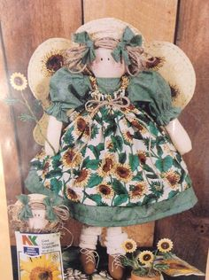 Bear Thread Designs Sunflower Sadie Craft Pattern Angel Watching Over Me My Lord | eBay