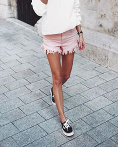 Pink shorts & #VANS  // @zuluandzephyr #cutoffs, @VANSaustralia kicks ✔️