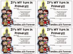 Melonheadz LDS illustrating: Classroom Door Posters and Primary participation reminders