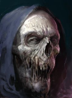 The dark and macabre fantasy paintings of digital artist Antonio José Manzanedo (previously), a concept designer and illustrator based in Spain. Arte Zombie, Zombie Art, Horror Artwork, Skull Artwork, Monster Art, Illustrator, Skull Pictures, Arte Obscura, Images Gif