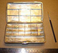 Vintage cigarette case turned into a travel watercolor palette.  Divine.