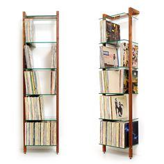 LP - QUADRA Schallplattenregal aus Massivholz